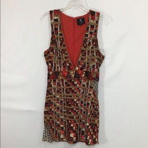 X By NBD Sequin Evening Mini Dress Sz M
